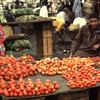 Market, tomatoes