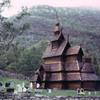 Wooden church, wooden architecture, Scandinavian architecture, montagnes, cemet