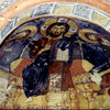 Interior of the Karanlik church, Byzantine art, wall painting, Christ in majest