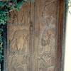 Carved door on the Island of Gorée, slavery