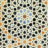 Ceramic decoration of a wall of the Bou Inaniya Medersa, Islamic art