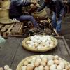Everyday life, local market, eggs