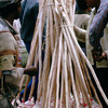 Everyday life, local market, brooms