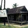Village house, board 'La Poussette'