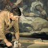 Restoration Workshop of Puntecasale, pasting of a new canvas