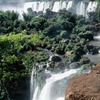 Waterfall of the Iguazu National Park, sub-tropical forest