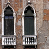 Damaged facade of a Venitian residence, Renaissance facade