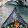 Canal , gondola and Venitian houses, Venitian bridge