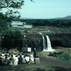 Outdoor literacy class for adults in the region of the Nile falls, adult educat