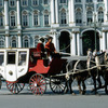 Winter Palace and harnessed carriage, baroque style, Russian architecture,