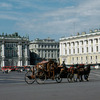 Winter Palace, square in front of palace, carriage, baroque style, Russian arch