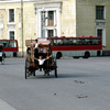 Palace Square, carriages, buses, Russian classical architecture