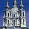 Smolny Monastery, Russian traditional style, European baroque style, church, to