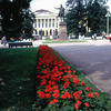 Square of Arts, Russian classical architecture, public garden, statue of Pushki