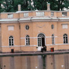 The Music Pavilion of the Palace of Catherine II, pond, park, Russian classical