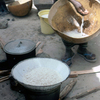 Traditional cooking, African women