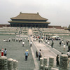 The Forbidden City, terraces and visitors