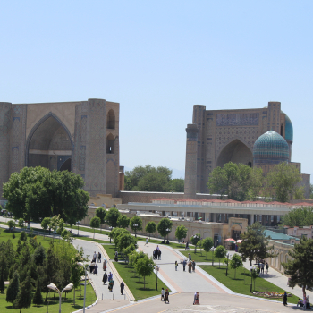 View of the Bibi Khanym Mosque, Samarkand