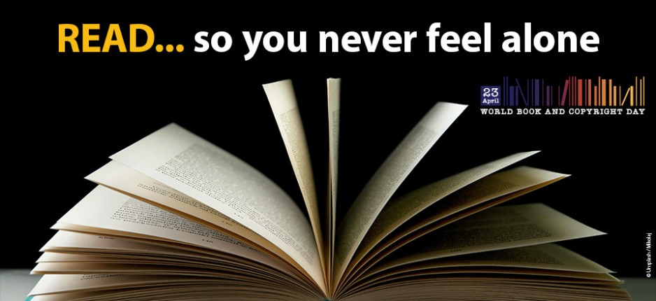 UNESCO World Book Day Image 'Read - so you never feel alone'