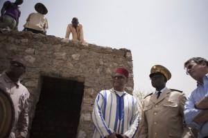 Serge Daniel, Hassan Naciri and David Gressly, Ben Amar Mausoleum, Timbuktu