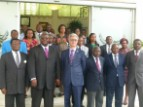 Family photo of officials present at the first Executive council of Gabonese National Commission for UNESCO