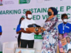 Mr. Ukie receives his award after emerging top amongst 659 entries