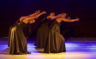 Tanzanian dancers performing on stage