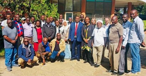 Participants in the UNESCO Disaster Risk Preparedness Training Course at Mount Kenya World Heritage site ©UNESCO/J. Ogana