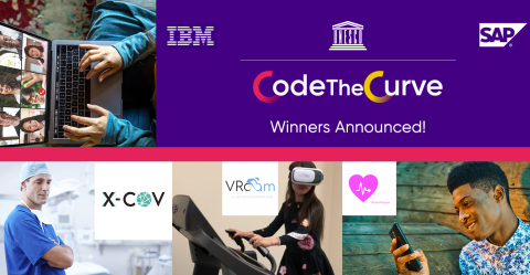 CodeTheCurve Hackathon winners banner