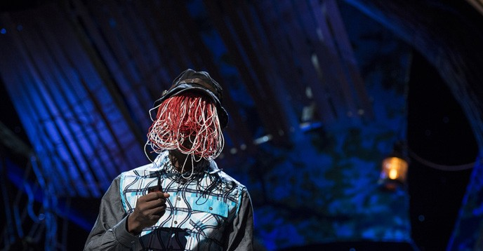 Ghanaian investigative journalist, Anas Aremeyaw Anas, known for his reports on human rights violations and corruption, preserves his anonymity by concealing his face whenever he appears in public.