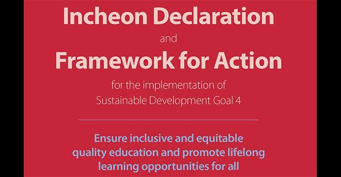 SDG-Education 2030 Framework for Action