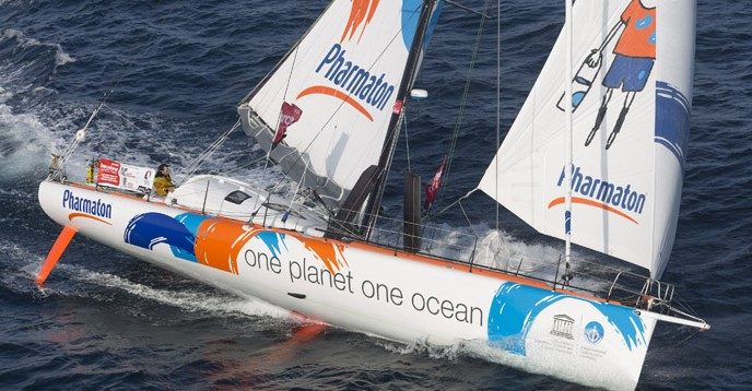 One Planet One Ocean & Pharmaton, competing in the Barcelona World Race