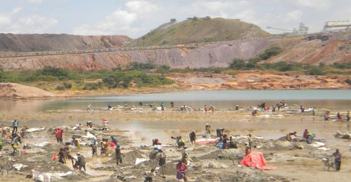 Abandoned mine in Nigeria, artisanal mining
