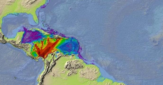 Scenario for the tsunami exercise Caribe Wave 2015
