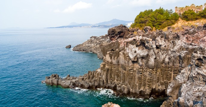 Jeju Island, Republic of Korea, is a Ramsar Sites, World Heritage site, Biosphere Reserve and UNESCO Global Geopark