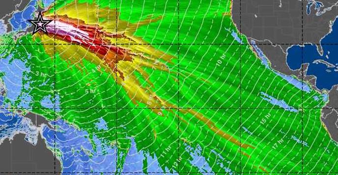 PTWC Deep-Ocean Tsunami Amplitude Forecast