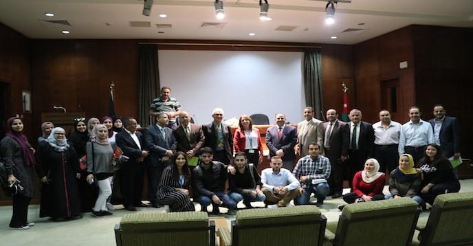 Guy Berger visits Yarmouk University in Jordan to speak