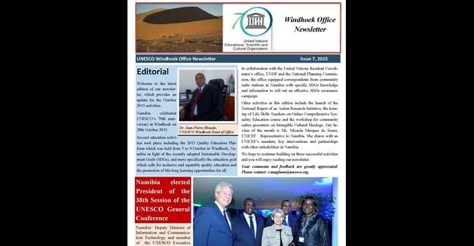 Unesco Windhoek Office Newsletter- 2015 Issue N°7