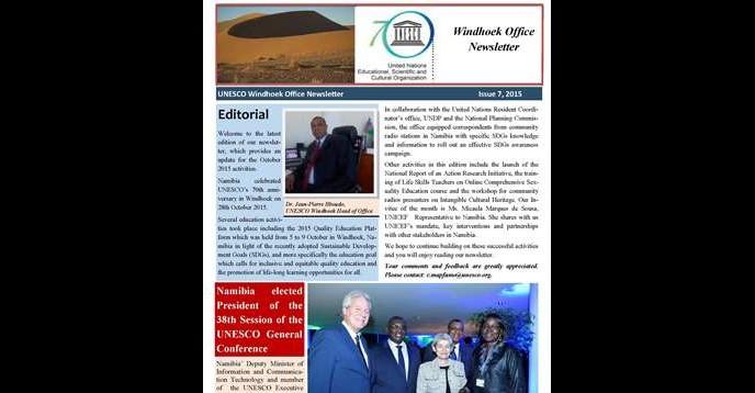 Unesco Windhoek Office Newsletter  Issue N