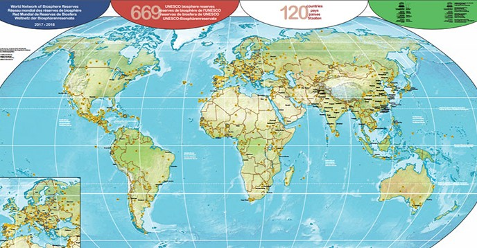 New map of the World Network of Biosphere Reserves 20172018