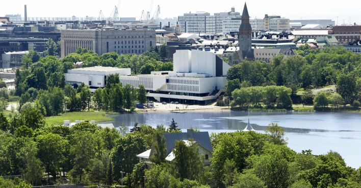 Finlandia Hall from the bay Katri Pyynonen