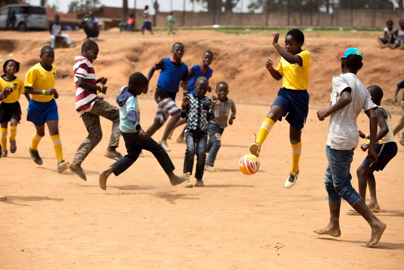 © UNESCO/Juventus - Kate Hampson - Soccer without Borders - Congolese children from refugee camp