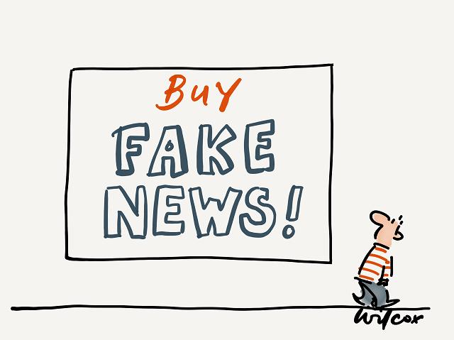 Advertising normalised fake news