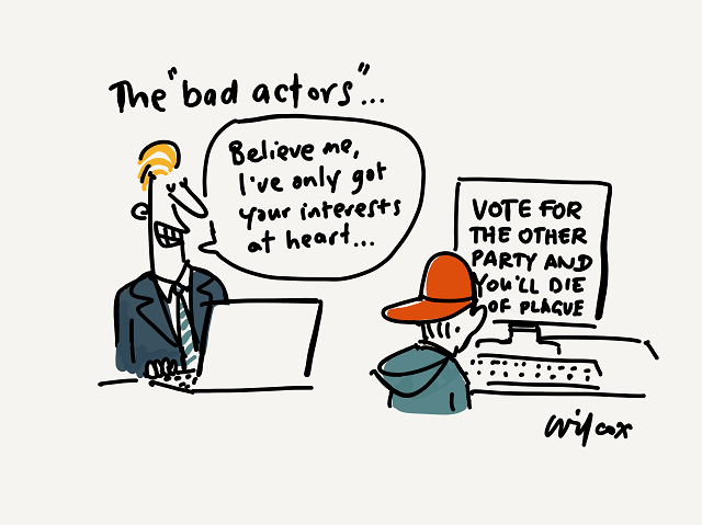 Bad actors in the internet