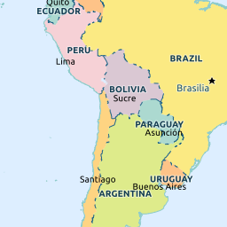 Paraguay - Map of paraguay world